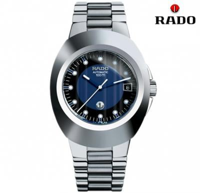 Rado R12637163 Mens Blue Dial Metal Band Watch R12637163