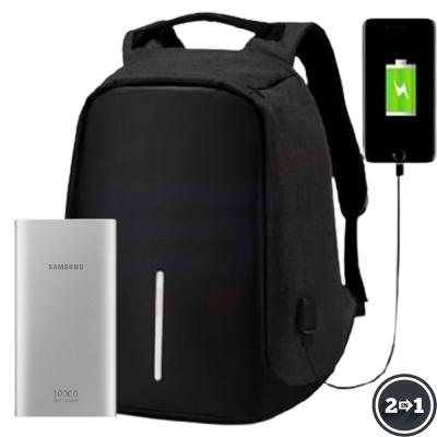 2 In 1 Samsung 10000 mah fast charge power bank And Anti Theft Backpack with USB Port
