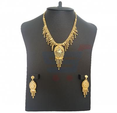 Alia Arts 22K Gold Plated Ladies Luxury Necklace Set, AL 13136