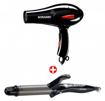 Combo Offer! Sonashi Hair Dryer 2000 Watts SHD-3009 & Get Sonashi  2-in-1 Hair Curler/ Straightener SHC-3005 FREE