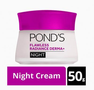 Ponds Flawless Radiance Derma+ Night Cream, 50g
