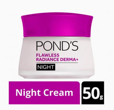 Ponds Flawless Radiance Derma+ Night Cream, 50g