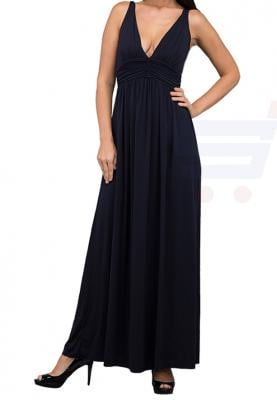 WAL G Italy V Neck Maxi Dress Navy - PL 16192 - XL