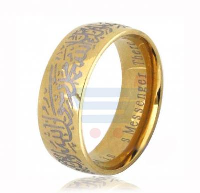Gold Stainless Steel Ring for Men and Women Size 8 US