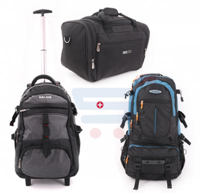 Combo Offer Para John 22 Inch Handbag, Black- PJTB9400, Para John 28 Inch Backpacks, Blue- PJMBP6555 And Para John 20 Inch Trolley Backpack Luggage, Grey- PJTRBP6514