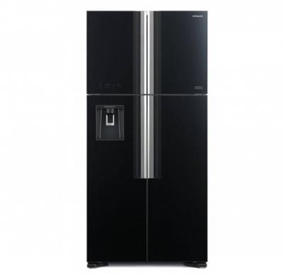Hitachi 760Ltr Inverter Class French Door Refrigerator Glass Black Color RW760PUK7GBK