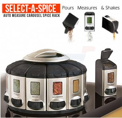 Kitchen Auto Measure Spice Racks