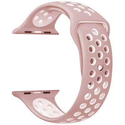 iBand for Apple Watch Strap 44mm and 42mm, Pink White