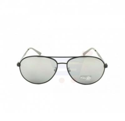 Police Aviator Matt Black Frame & Grey With Silver Mirror Effect Mirrored Sunglasses For Men - SPL344-531X