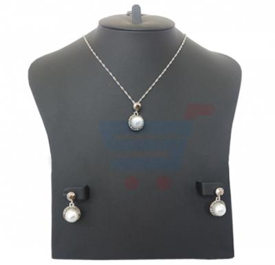 Ayesha Silver Plated Ladies Pearl Stones Necklace Set -AY702224