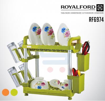 Royalford Fiber 2 Layer Dish Rack - RF6974