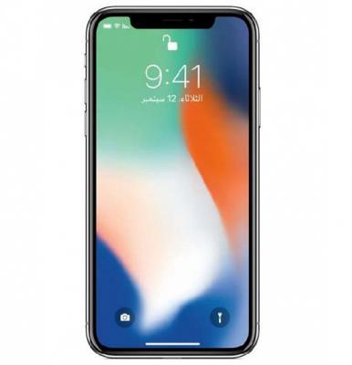 Apple iphone X Smartphone, iOS11, 5.8 Inch HD Display, 3GB RAM, 256GB Storage, Dual Camera, Wifi- Silver With Facetime
