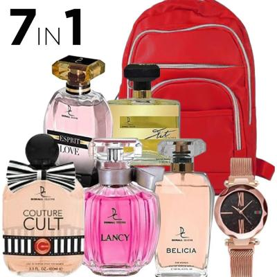 7 In 1 Dorall Collection 5 Piece Women Bundle, Fashionable Backpack For Women Assorted And DVANS Stylish Watch For Women Assorted Colors