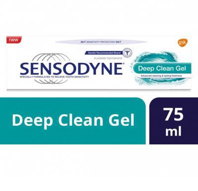 Sensodyne Deep Clean Gel, 75Ml,HC531