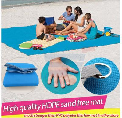 HDPE Foldable Six Person Outdoor Camping Sand Free Beach Mat