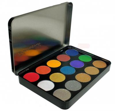 Ferrarucci Professional Diamond Eyeshadow, 15 Color