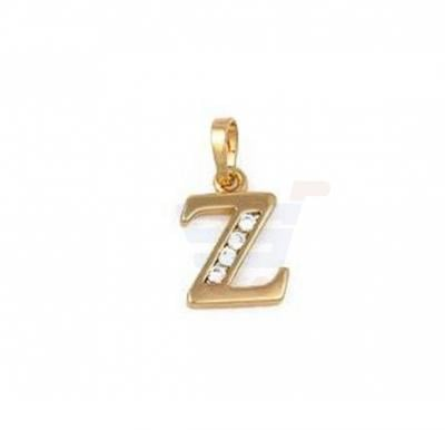 Xuping Necklace Pendant Gold Plated Letter  Z