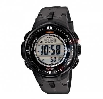 Casio Pro Trek PRW-3000-1DR  Radio Solar Triple Sensor Watch For Men -Black