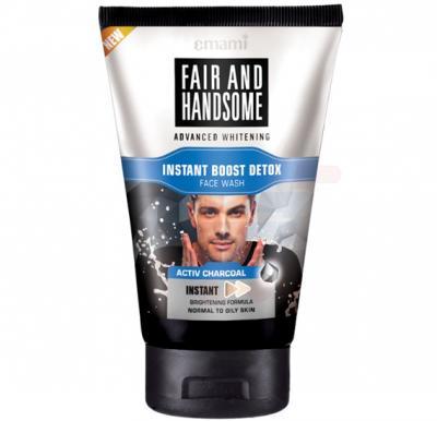 Emami Fair&Handsome Instant Detox Charcoal Facewash 50ml - 8712