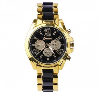 Geneva Analogue Dial Watch - Black