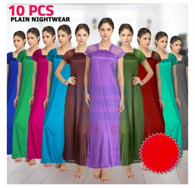 10 Pcs Plain Nightwear