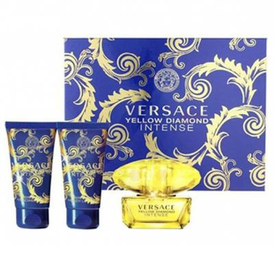Versace Yellow Diamond Intense Gift Set EDP 5ml, Shower Gel 25ml and Body Gel Miniature 25ml