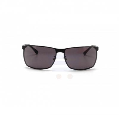 Police Rectangle Black Frame & Grey Mirrored Sunglasses For Men - S8959-0531