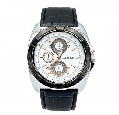 Claxton Dial white Leather Band Watch For Men, CT3146