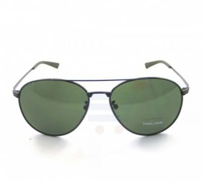 Police Oval Matt Gun Metal Frame & Green Mirrored Sunglasses For Men - S8953-0627