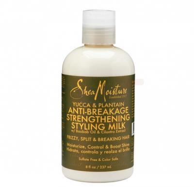 Sheamoisture Yucca & Plantain Anti-Breakage Strengthening Styling Milk 8Oz