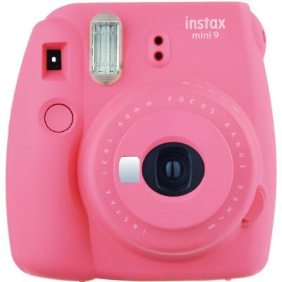 Fujifilm Instax Mini 9 Instant Camera with 60mm f/12.7 Lens, Flamingo Pink
