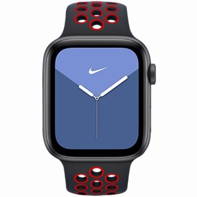 RockRose Starry Night Silicone Apple Watch Band for Apple Watch 42/44mm, RRBAWSNR, Black Red
