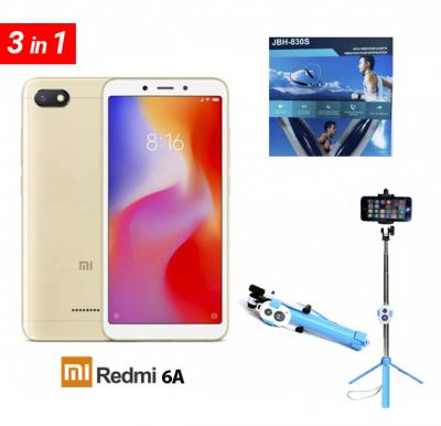 Xiaomi 6a smart phone with free hand free and selfie stick