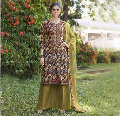 Sanskruti-Blossom salwar Suit Dress Material, 13-30008