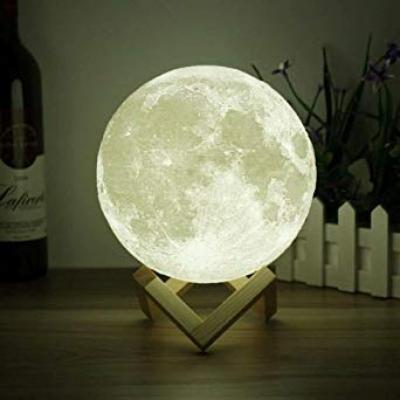 3D Moon Lamp White, HS1001