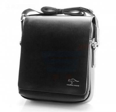 Kangaroo Kingdom Superior Finished European style Messenger Bag For Men Black