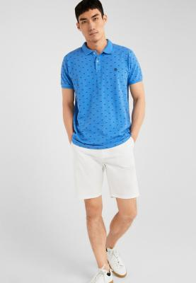 Springfield Polo T-Shirt Slim Fit Blue and Black Dots, Size L