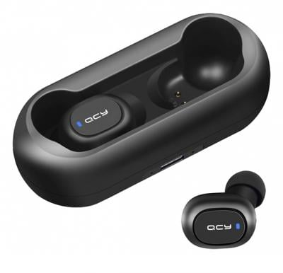 Wireless Earbuds, QCY T1 True Wireless Bluetooth 5.0 Headphones in-Ear Earbuds with Microphone Coalblack