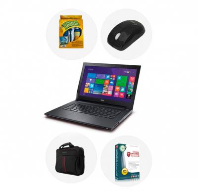 Bundle Offer! Buy Dell 3542 Laptop, Intel Core i3, 4GB RAM, 1TB HDD, 15.6 inch, DOS & Get Laptop Bag + Mouse + Comodo Antivirus + LCD Cleaning Kit FREE