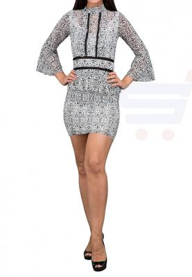 TFNC London Nolytar Long Sleeve   Formal Dress Black/White - ANT 48470 - L