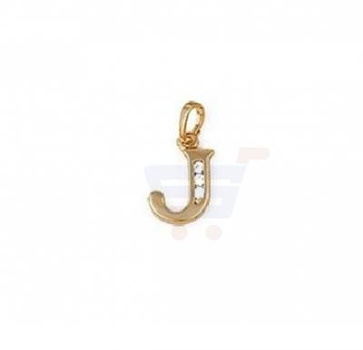 Xuping Necklace Pendant Gold Plated Letter  J