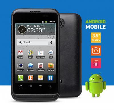 Android Smartphone, Single Sim, 3.5 inch, Black