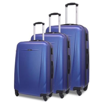 Traveller 3pcs ABS Trolly 20,24 And 28 size Navy Blue, TR-3304