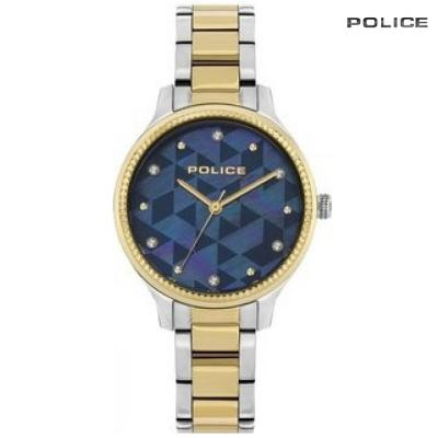 Police Analog Silver And Gold Stainless Steel Watch For Women, PL15695BSTG/D38M