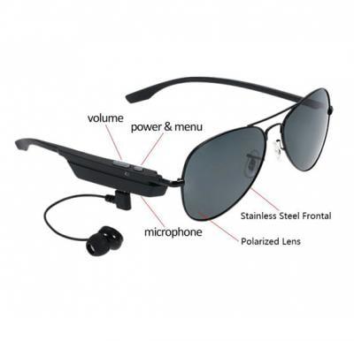 Bluetooth Sunglasses Headphone Polarized For Men - Bluetooth 4.1 and Music Headset Headphone For Smartphones