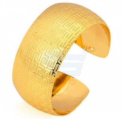 18k Real Gold Plated Vintage Big Cuff Adjustable Bracelet For Men