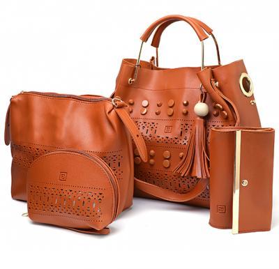 7c999bcaa3f 4 in 1 Ladies Bag set 064 Brown