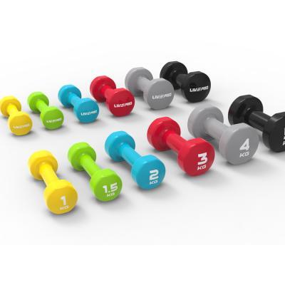 Livepro Studio Coloured Dumbbells 1.5kg Pair, LP8076-1.5