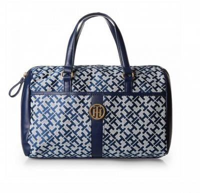 Tommy Hilfiger Tote Bag for Women - Canvas, Navy Blue