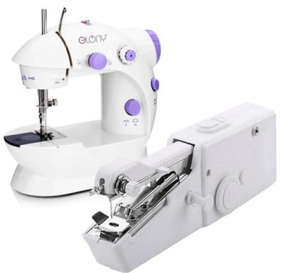 2 in 1 Bundle Pack Elony Mini Sewing Machine And Handy Stitch Sewing Machine